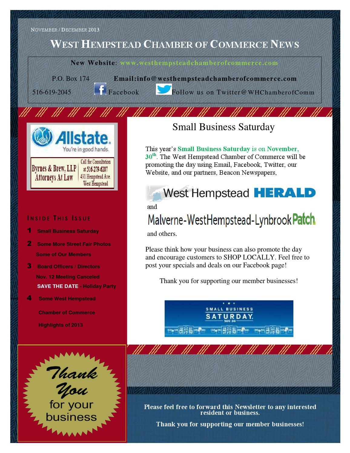 Nov Dec 2013 West Hempstead Chamber Of Commerce