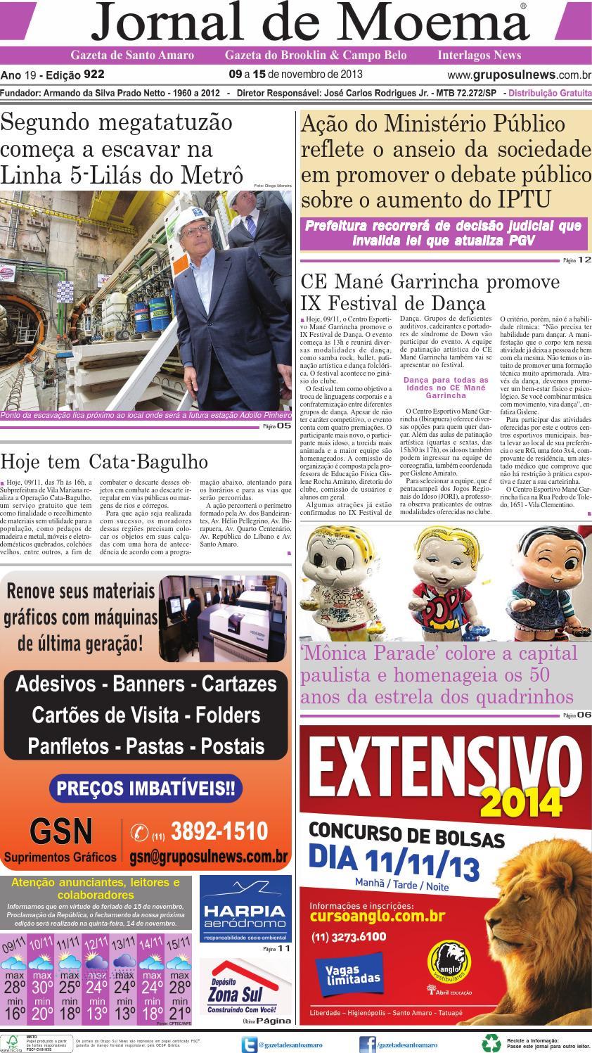 1a1c0523475d7 Edição 922 - 09 a 15 de Novembro de 2013 by Grupo Sul News - issuu