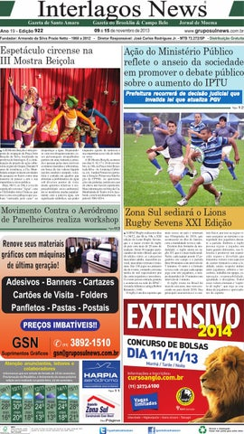 Edição 922 - 09 a 15 de Novembro de 2013 by Grupo Sul News - issuu 29319003448be