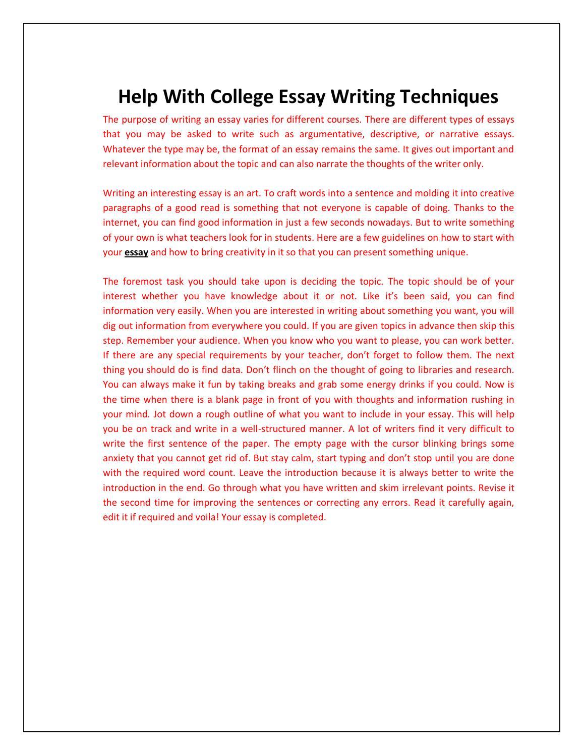 Do my college essays
