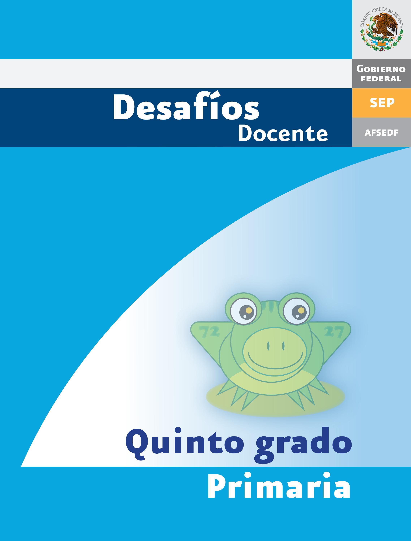 Desafios matematicos docente 5º quinto grado primaria by GINES ...