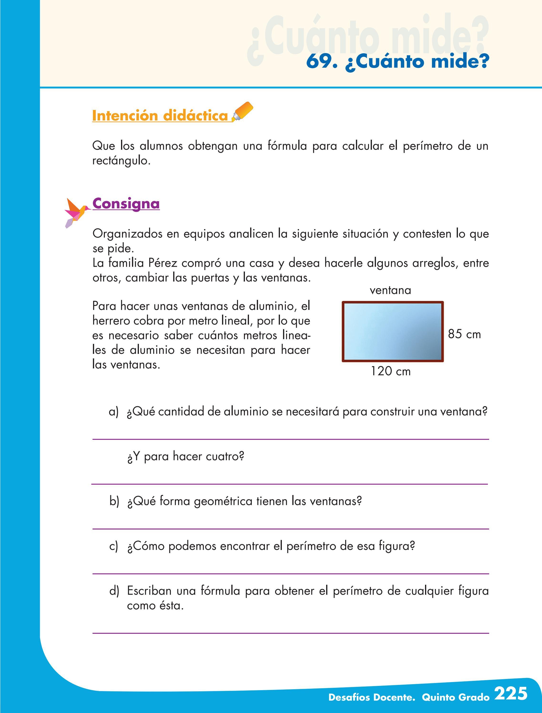 Desafios matematicos docente 5 quinto grado primaria by for Cuanto cuesta el aluminio para ventanas