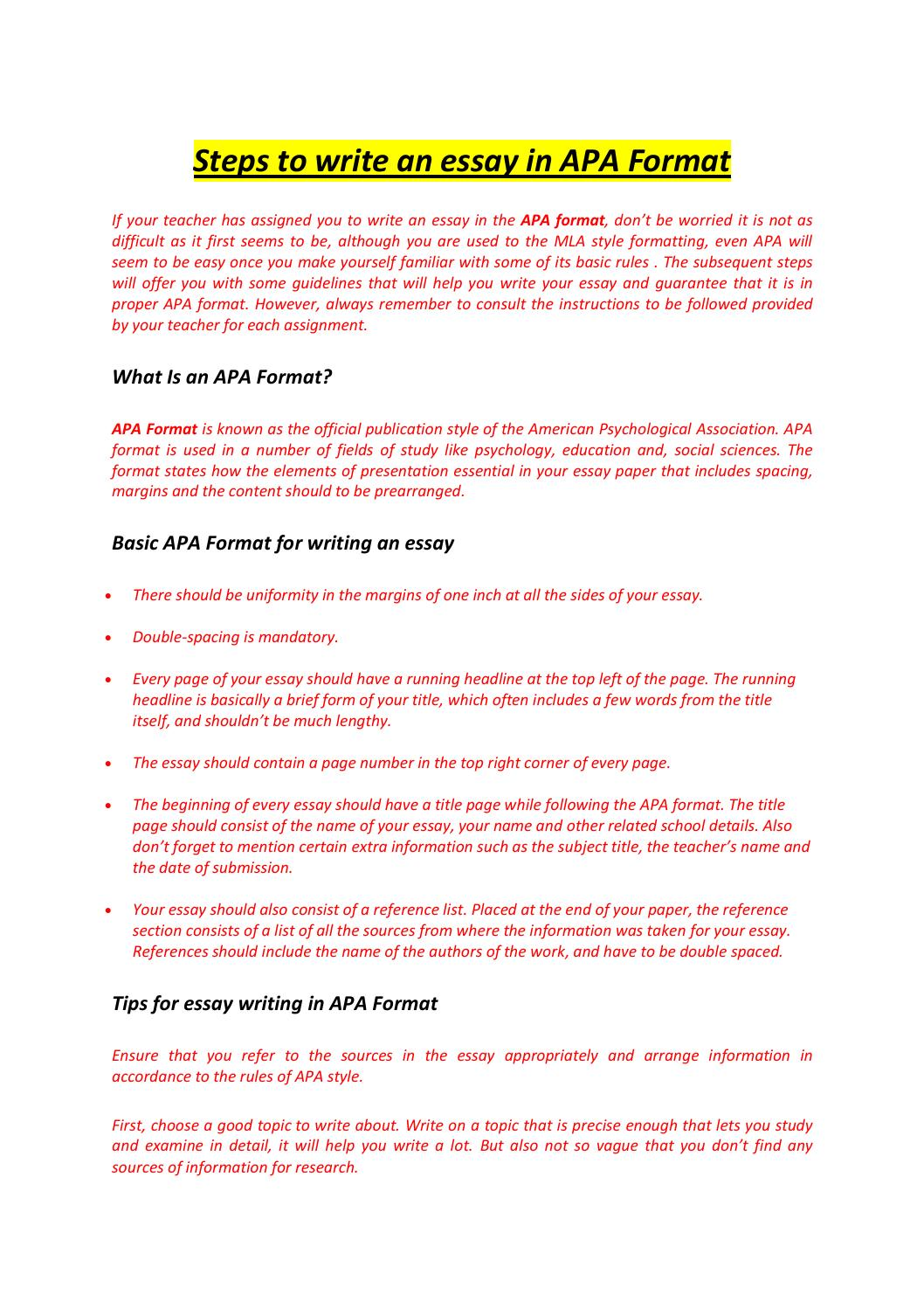 writing cover page essay apa