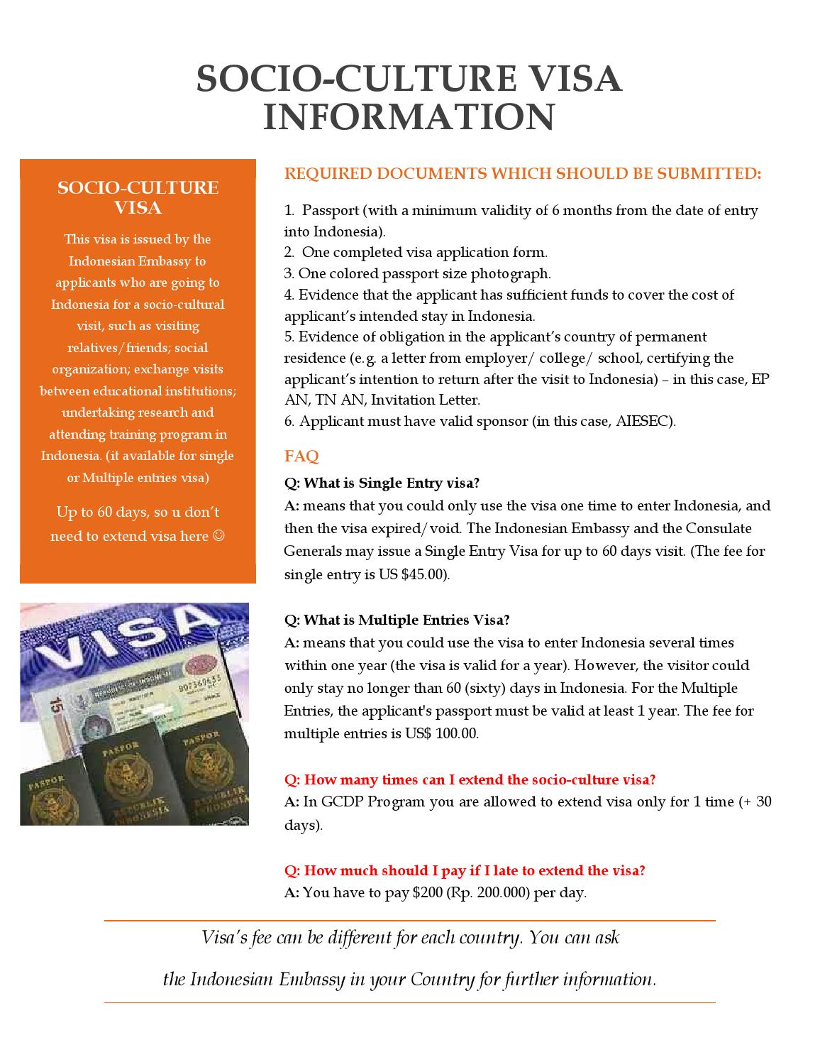AIESEC Indonesia Visa Information by AIESEC Indonesia  issuu
