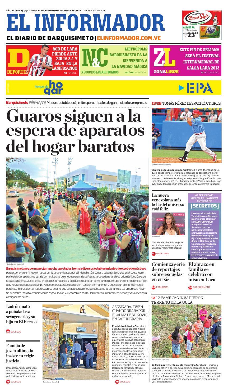 34fbcdd83 El informador 11 11 2013 by El Informador - Diario online Venezolano - issuu