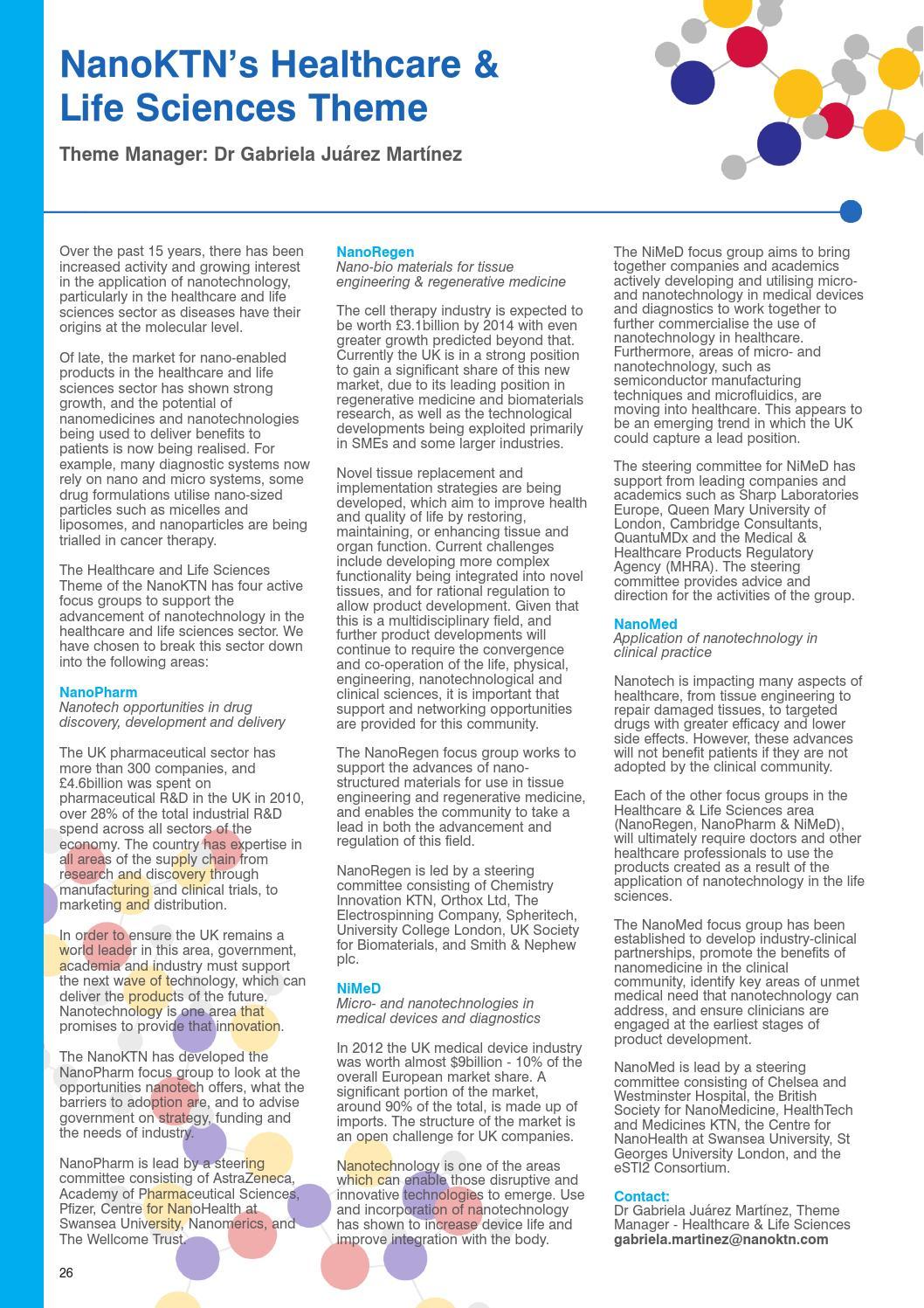 UK Nanotechnology Directory by Benham Publishing Limited - issuu
