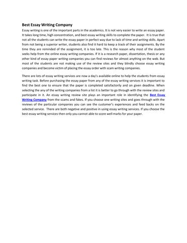 Best Essay Writing Company By Susan Collins  Issuu Best Essay Writing Company