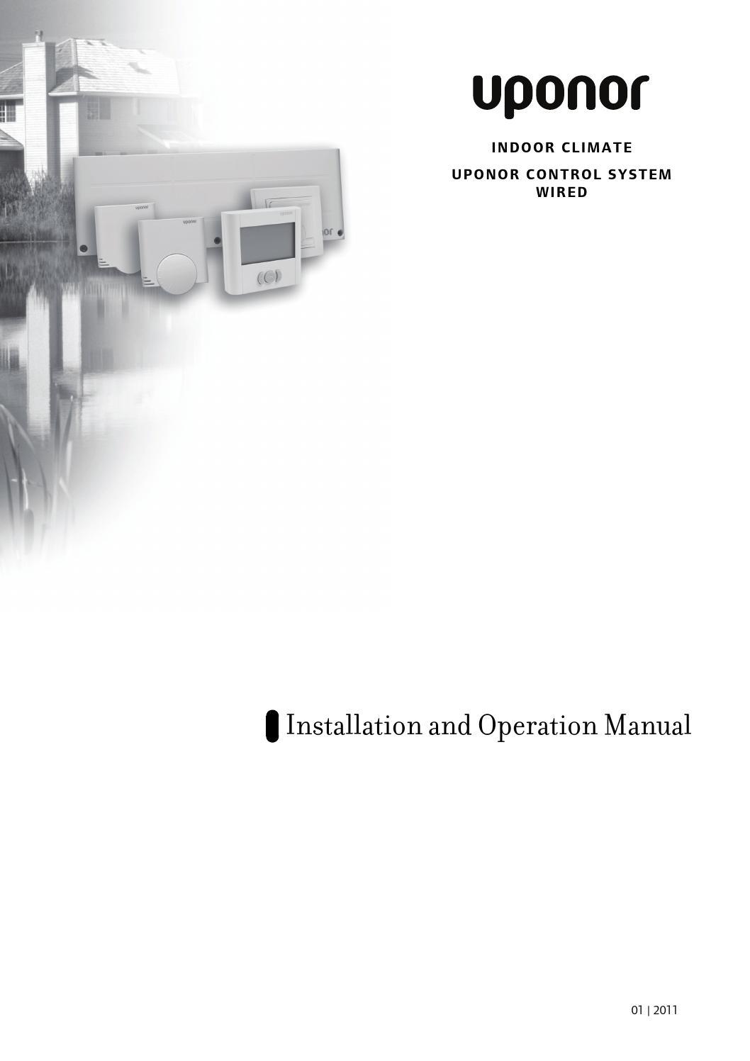 Mi ucs wired manual 01 2011 by Uponor International - issuu | Wirsbo Underfloor Heating Wiring Diagram |  | Issuu
