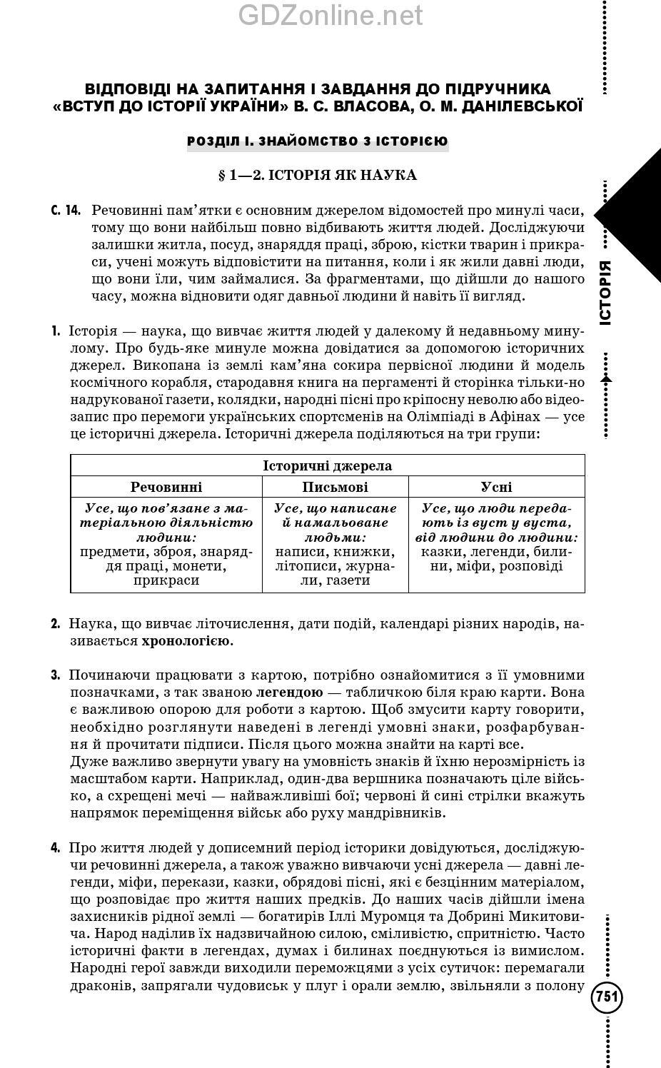 Украины 5 для по власов истории гдз класса