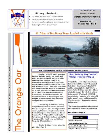 Orange Oar December 2012 by Syracuse Alumni Rowing Association - issuu