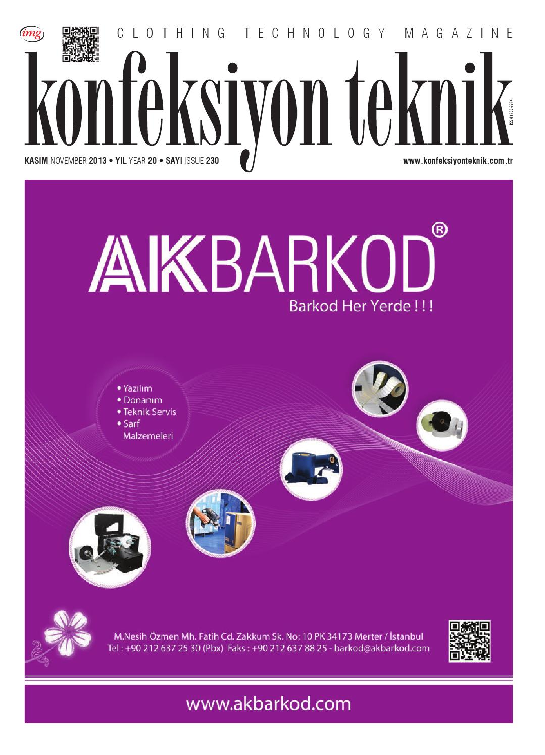 073bb1f5c7845 Konfeksiyon Teknik Kasım'13 by Konfeksiyon Teknik - issuu