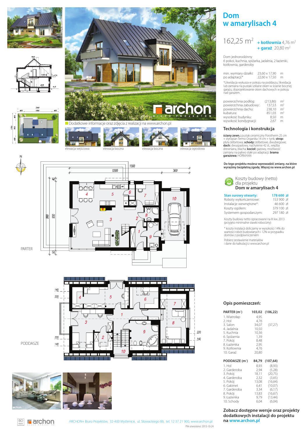 Projekt Domu W Amarylisach 4 By Archon Plus Issuu