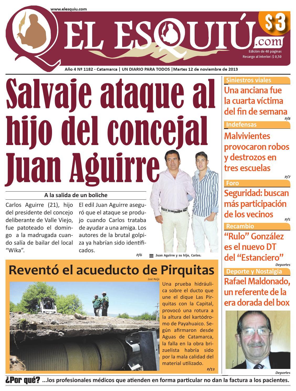 El Esquiu Com Martes 12 De Noviembre De 2013 By Editorial El  # Hazan Muebles Gavilan