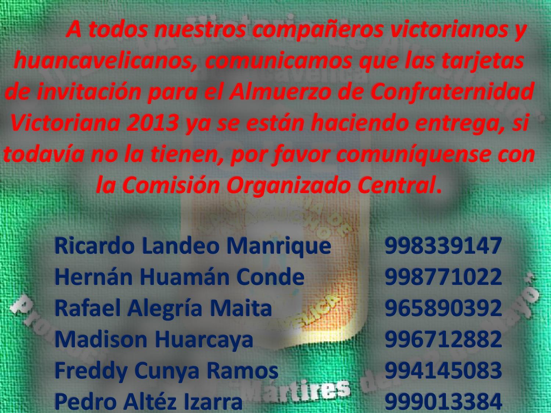 Tarjeta De Invitacion Al Almuerzo De Confraternidad