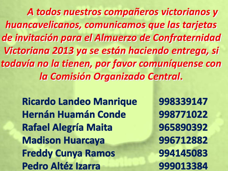 Invitacion Almuerzo Victoriano By Asociación De