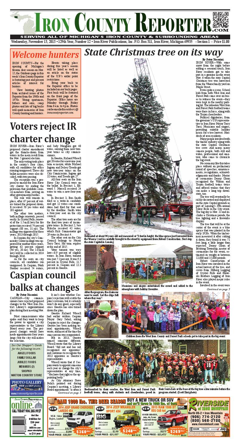 Iron county reporter 2013 11 13 by Janet Rohde - issuu