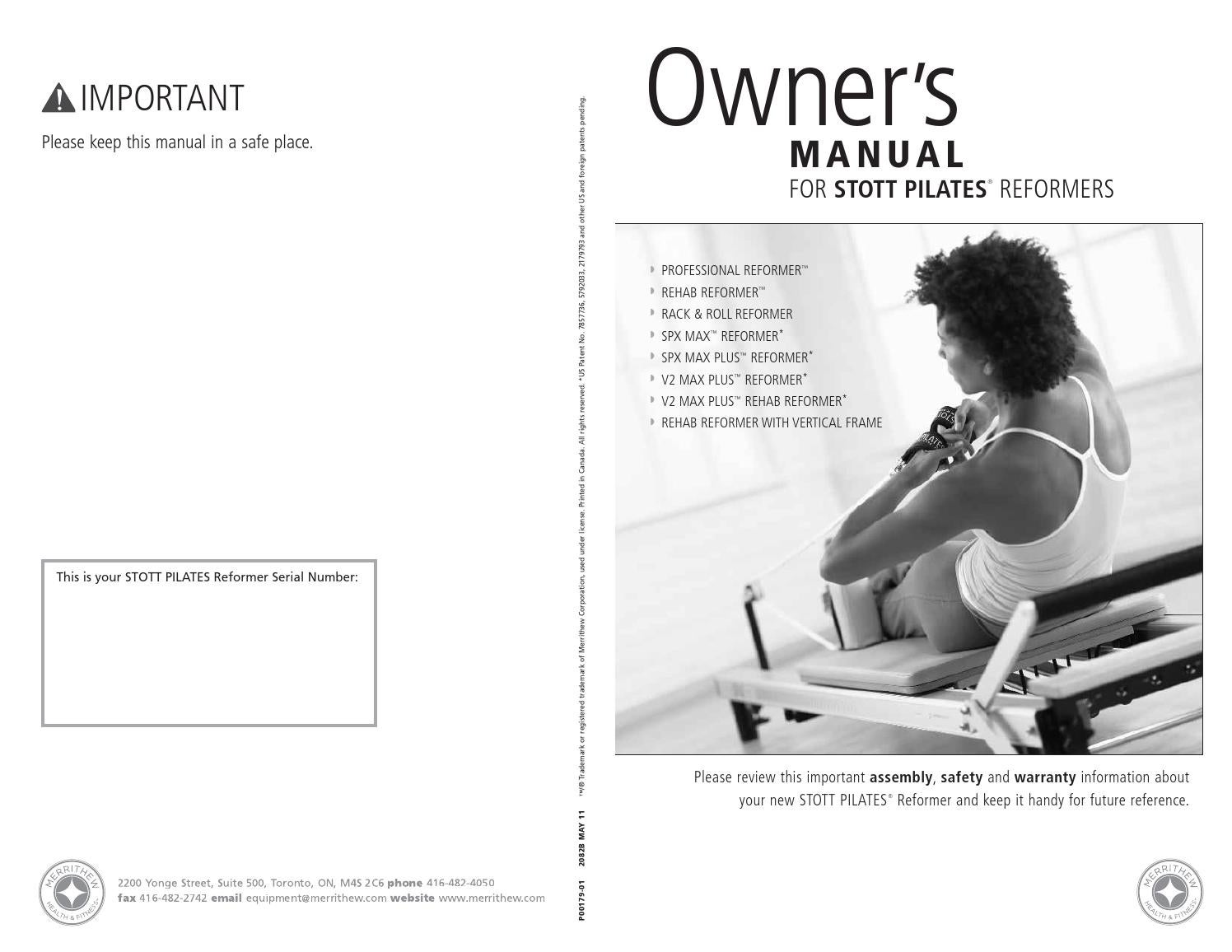 Reformer Owner S Manual By Merrithew Issuu