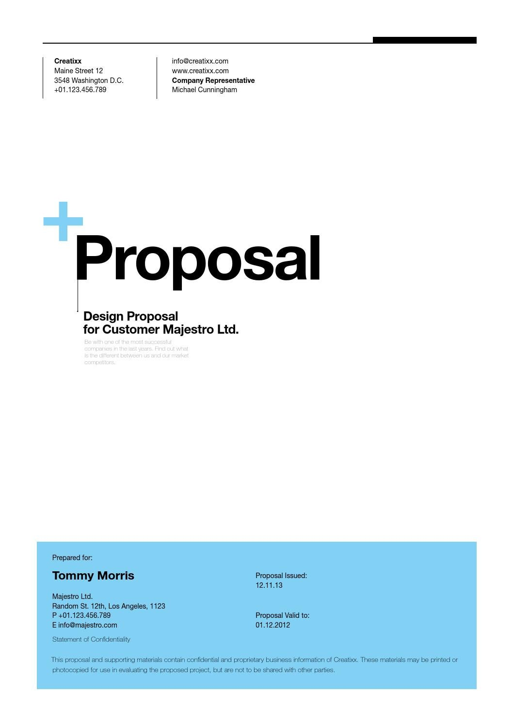 Suisse Design Proposal Template By Egotype   Issuu  Company Proposal Format