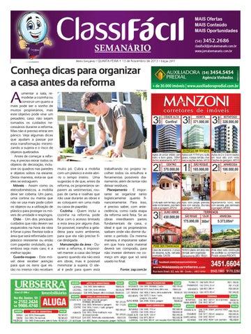 3b9ddd8578 13 11 2013 - Classificados - Edição 2977 by Jornal Semanário - Bento ...