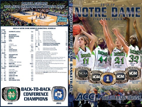 f2a48d7a 2013-14 Notre Dame WBasketball Media Guide by Chris Masters - issuu