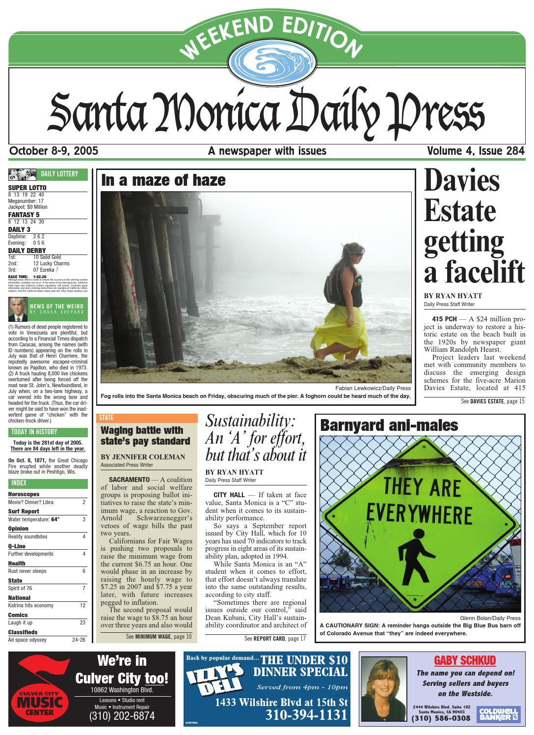 Santa monica daily press october 08 2005 by santa monica daily santa monica daily press october 08 2005 by santa monica daily press issuu fandeluxe Choice Image