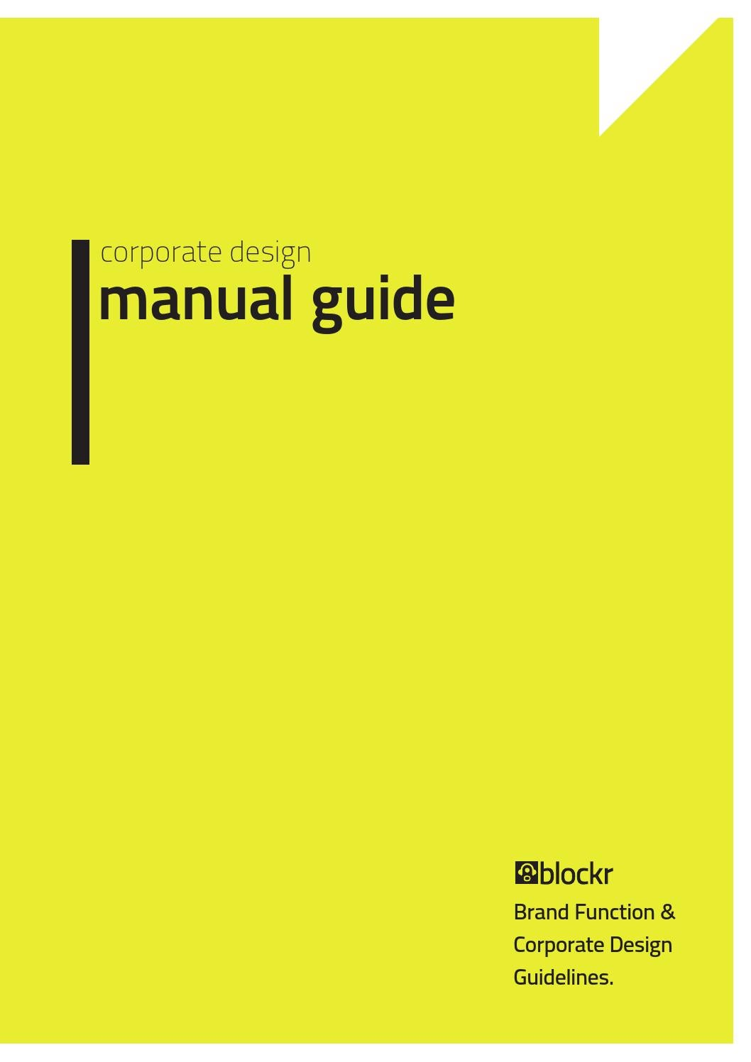 Book Cover Design Guide : Corporate design manual guide by egotype issuu