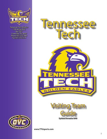 Visiting team guide by Tennessee Tech Sports Information - issuu