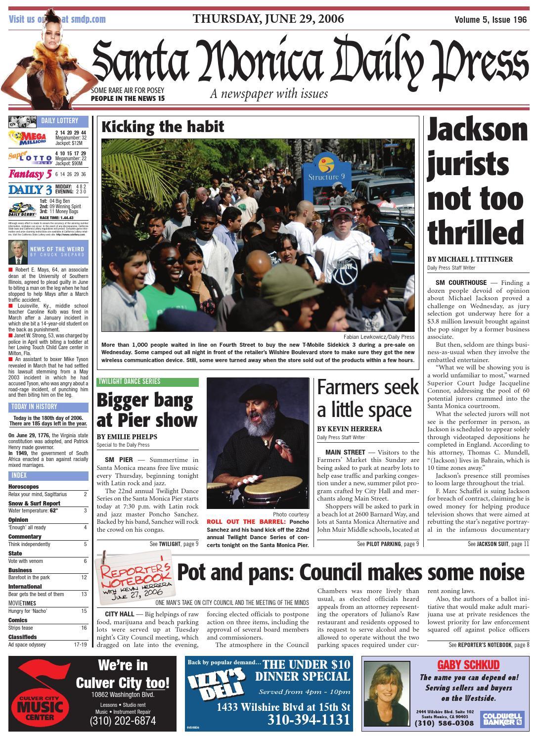 Santa Monica Daily Press, June 29, 2006