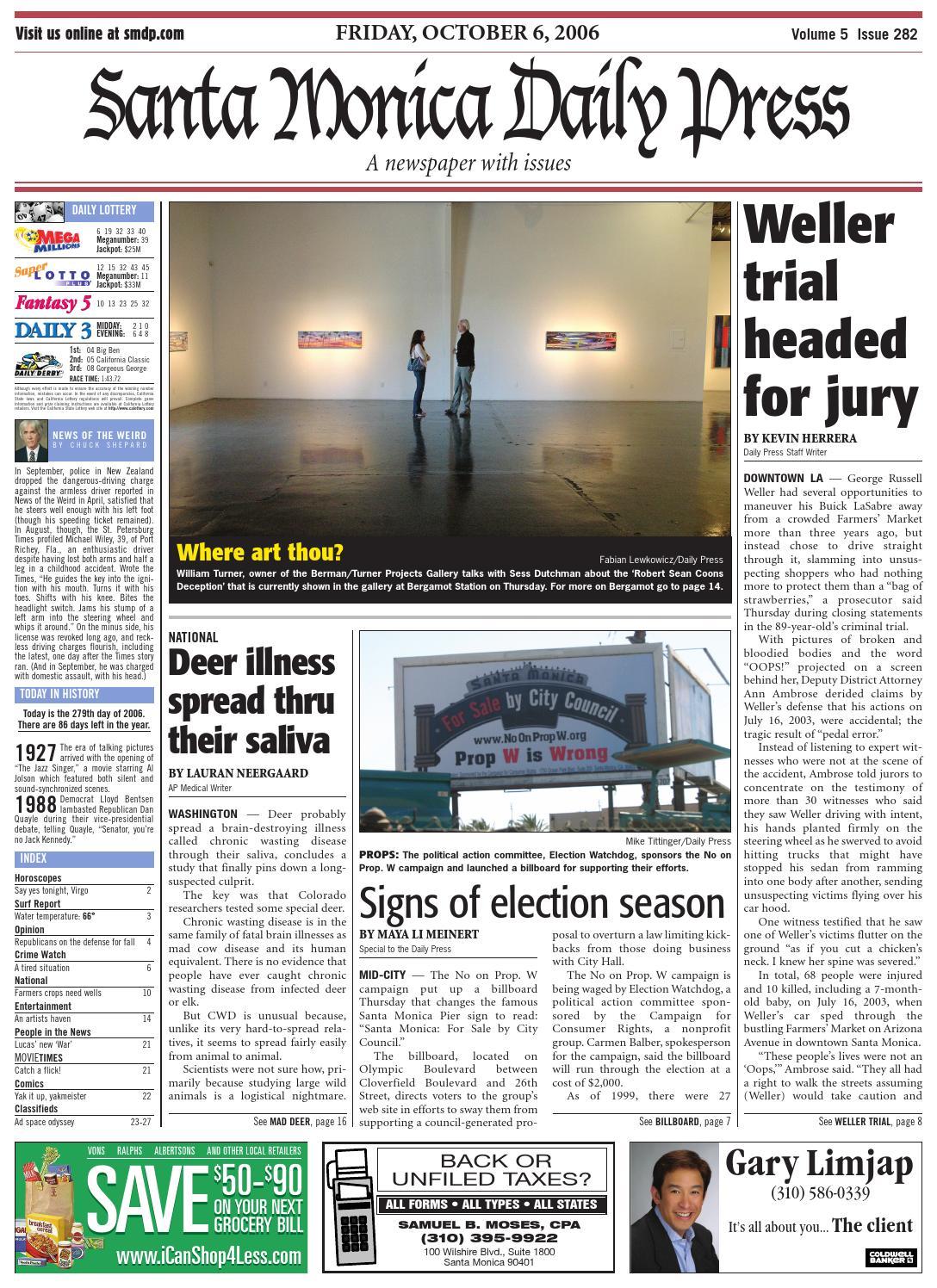 Santa Monica Daily Press, October 06, 2006 by Santa Monica Daily ...