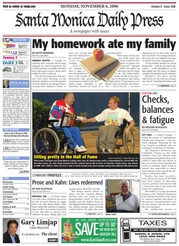 Strange Santa Monica Daily Press November 06 2006 By Santa Monica Best Image Libraries Weasiibadanjobscom