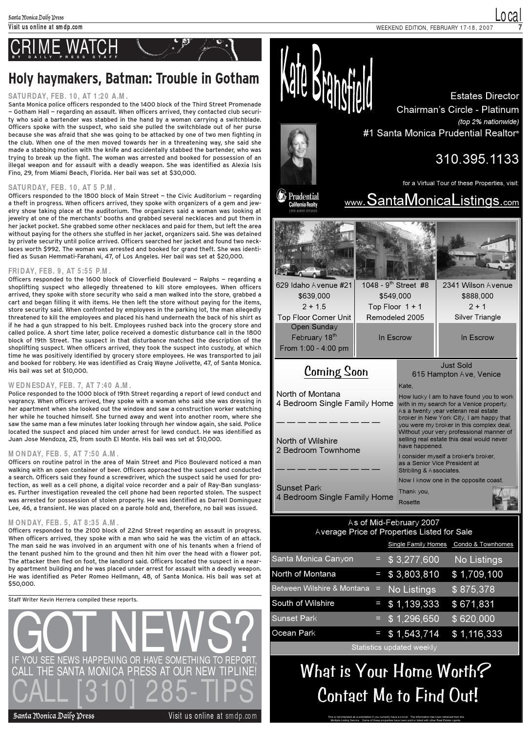 Santa Monica Daily Press, February 17, 2007 by Santa Monica Daily