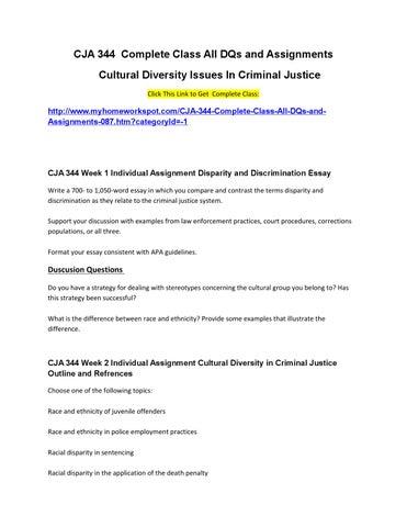Multiculturalism & Social Diversity in the Criminal Justice System