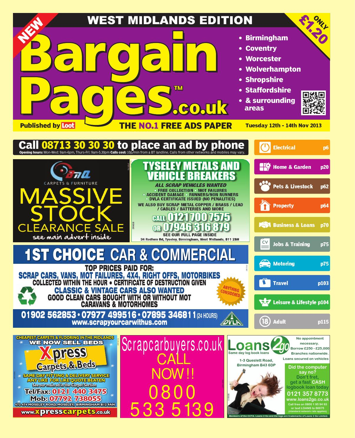 Bargain pages midlands 12th november 2013 by loot issuu