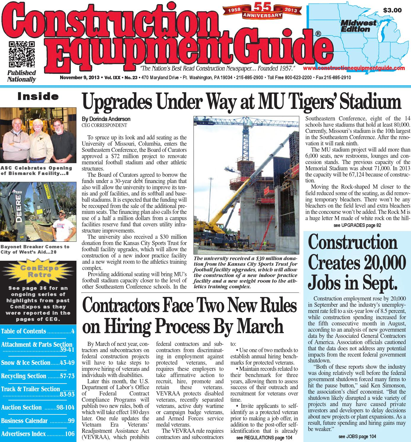 939fd1d5e92 Midwest 23 2013 by Construction Equipment Guide - issuu