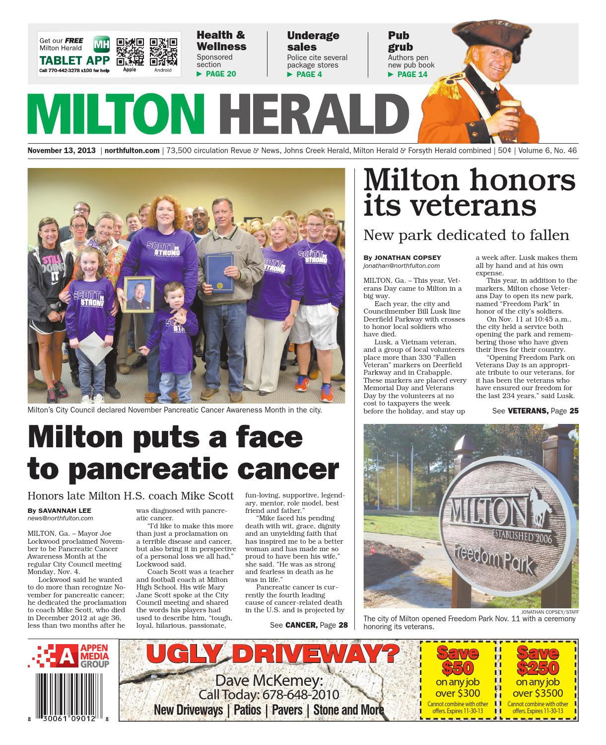 Milton Herald, November 12, 2013 by Appen Media Group - issuu