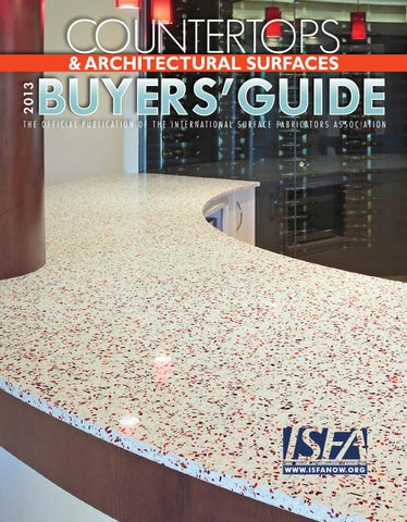 ISFA Countertops & Architectural Surfaces 2013 Buyers' Guide