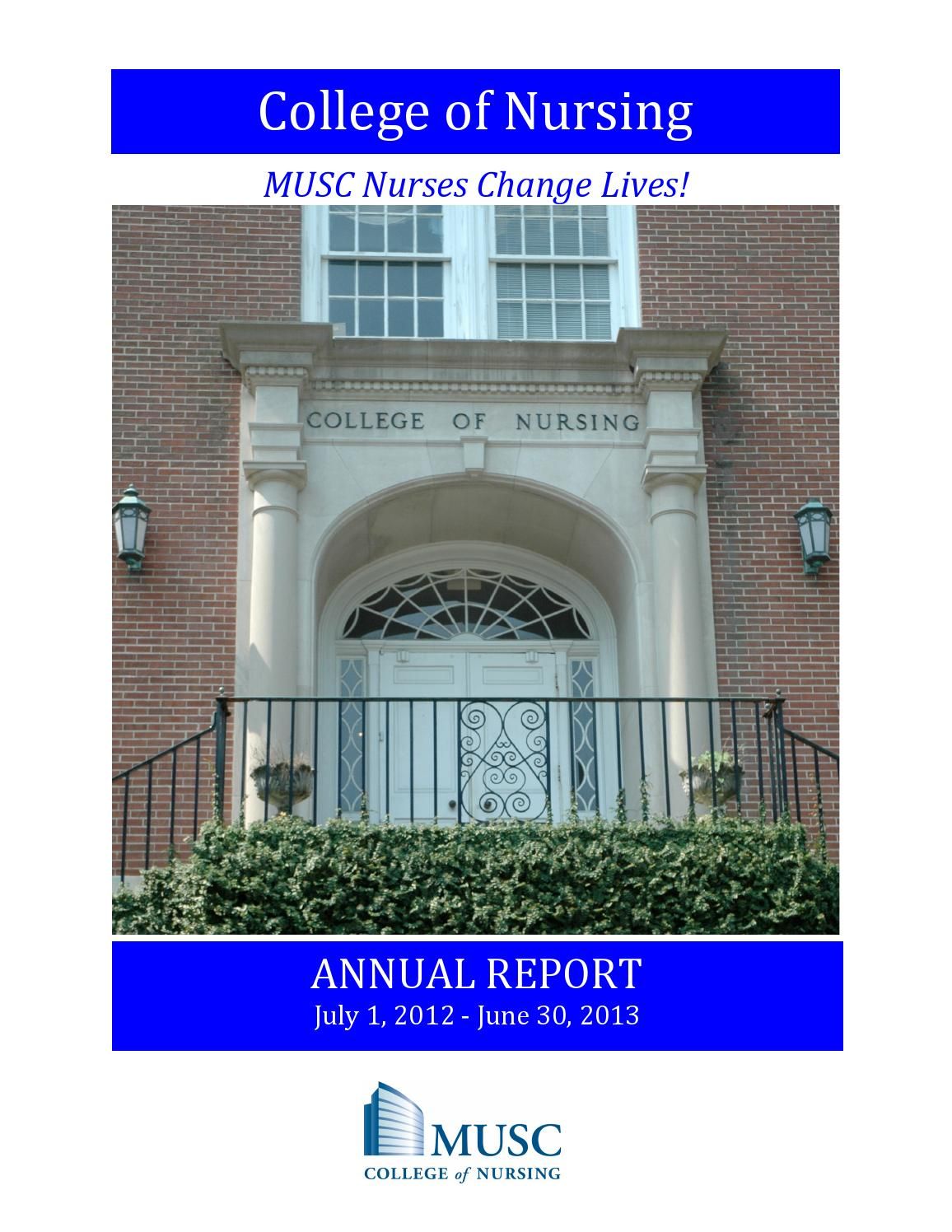 MUSC CON Annual Report 2012-2013 by MUSC College of Nursing