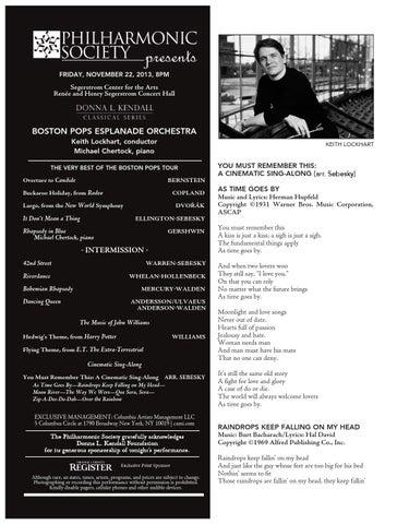 Boston Pops Esplanade Orchestra Program Book By