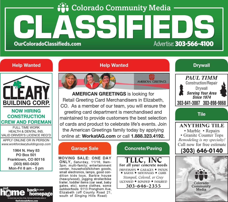 Classelbert 11 14 13 By Colorado Community Media Issuu