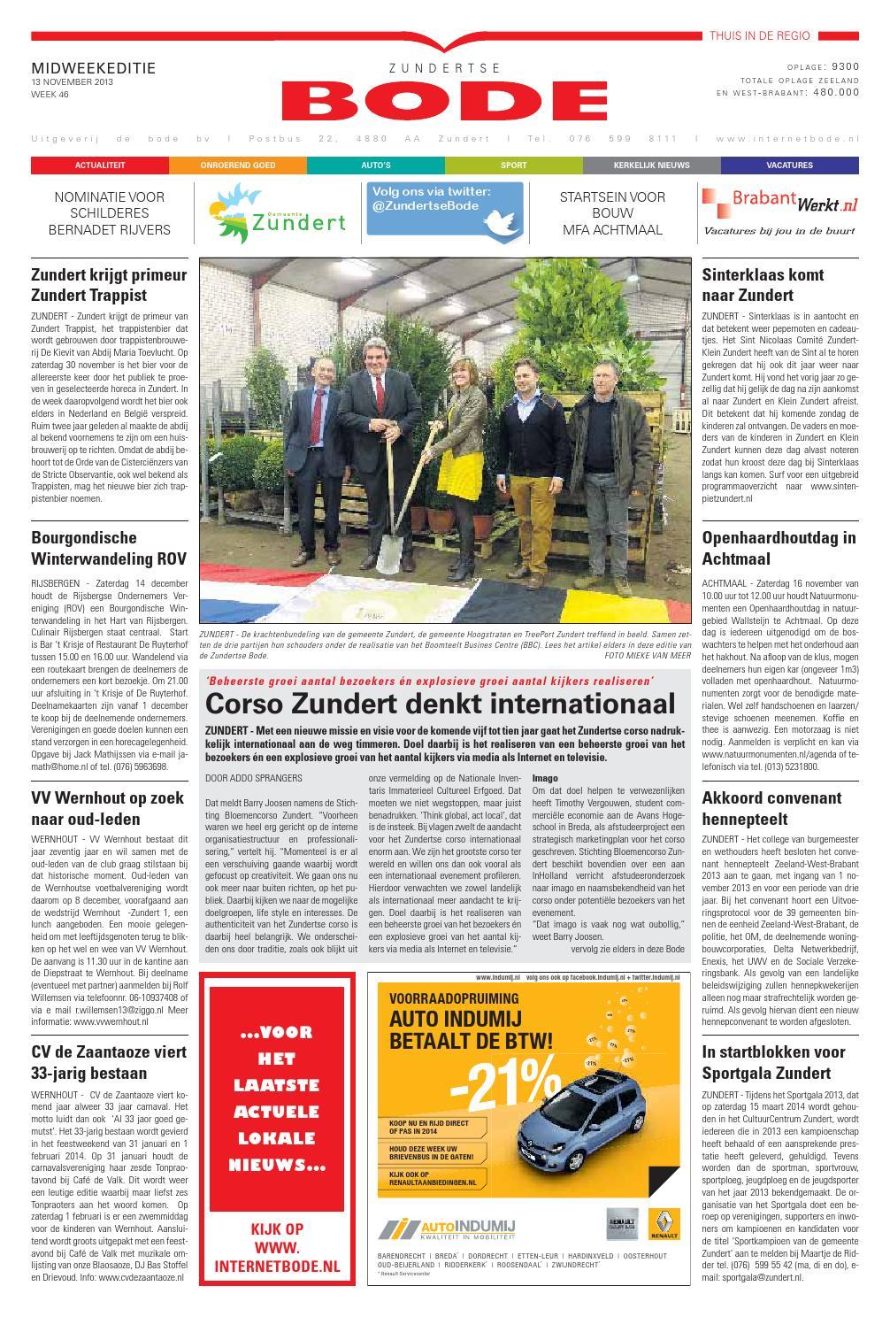 Dz 20131113 By Uitgeverij De Bode Issuu