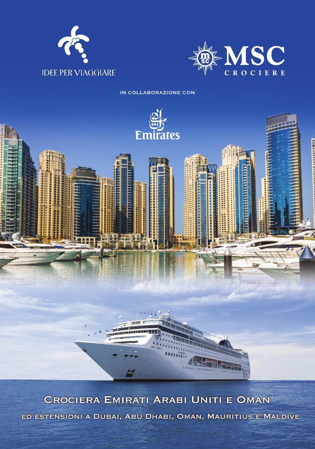 Crociera MSC Emirati Arabi Uniti E Oman By Idee Per Viaggiare Issuu