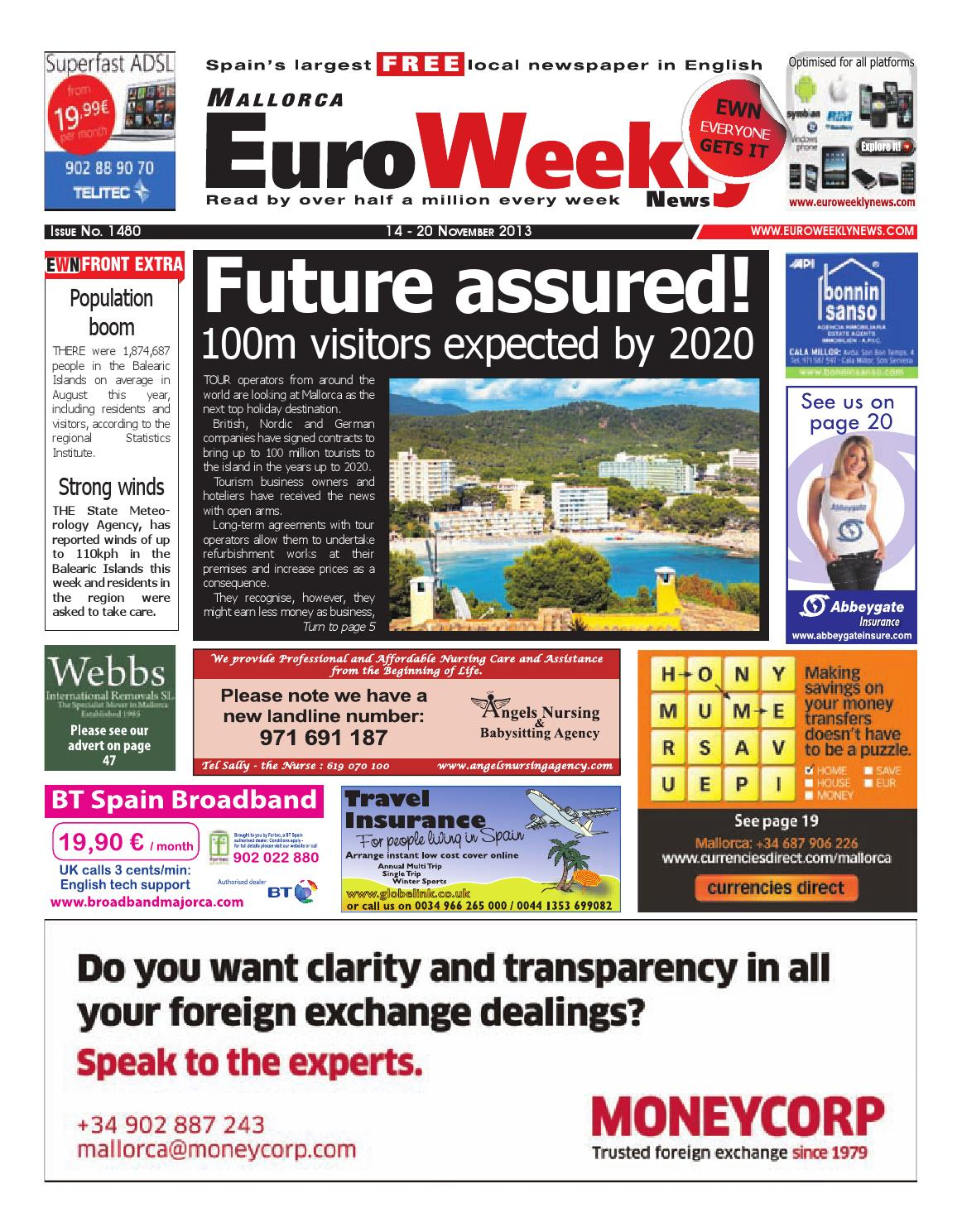 Euro Weekly News Mallorca 14 20 November 2013 Issue 1480 By  # Muebles Bedland
