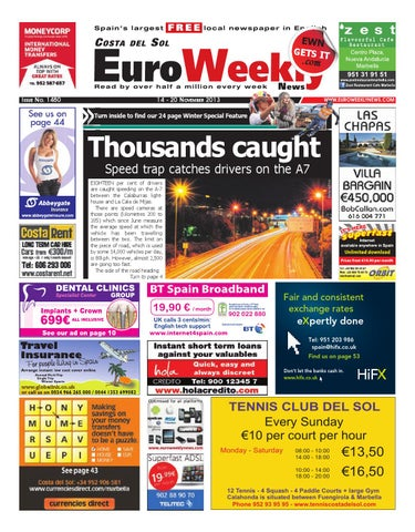Euro weekly news costa del sol 14 20 november 2013 issue 1480 by page 1 fandeluxe Choice Image