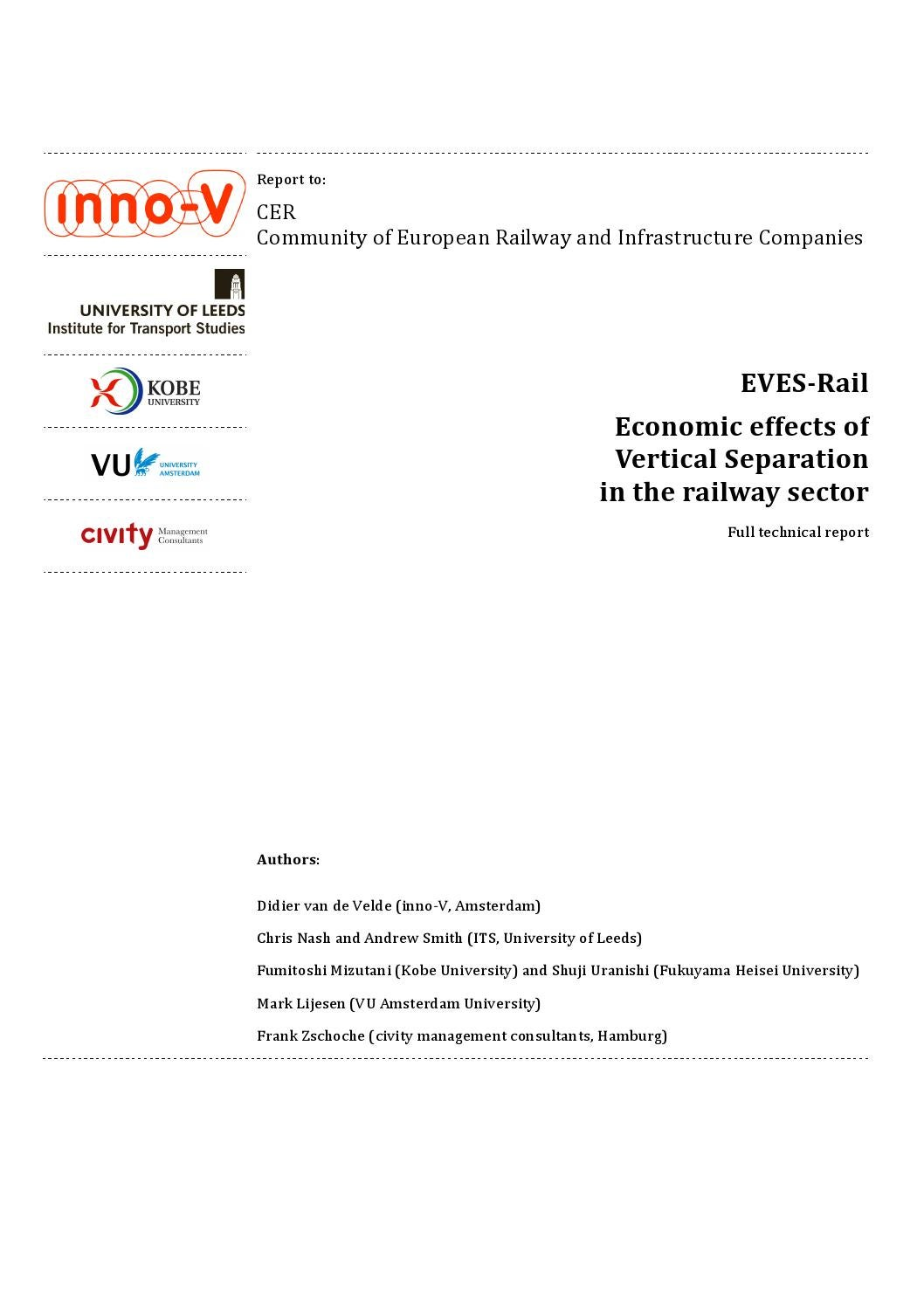 Eves Rail Study - quantitative effects on vertical separation by