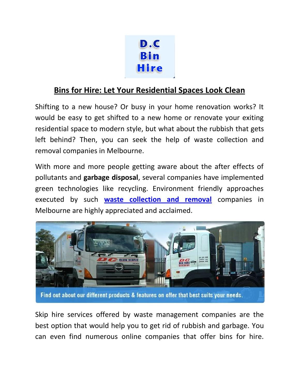 Hiring the services of reliable skip hire companies by waste