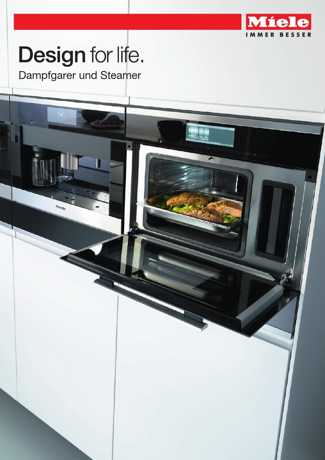 miele produktkatalog dampfgarer und steamer ch de by miele issuu. Black Bedroom Furniture Sets. Home Design Ideas