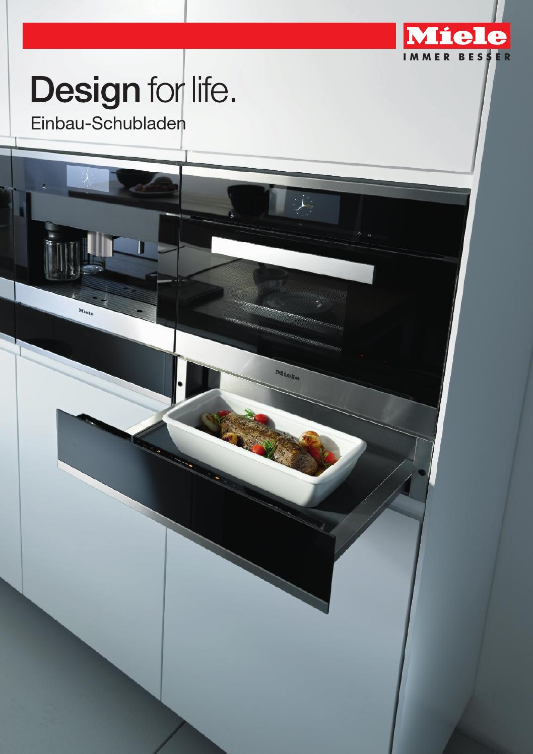 miele produktkatalog einbau schubladen ch de by miele issuu. Black Bedroom Furniture Sets. Home Design Ideas