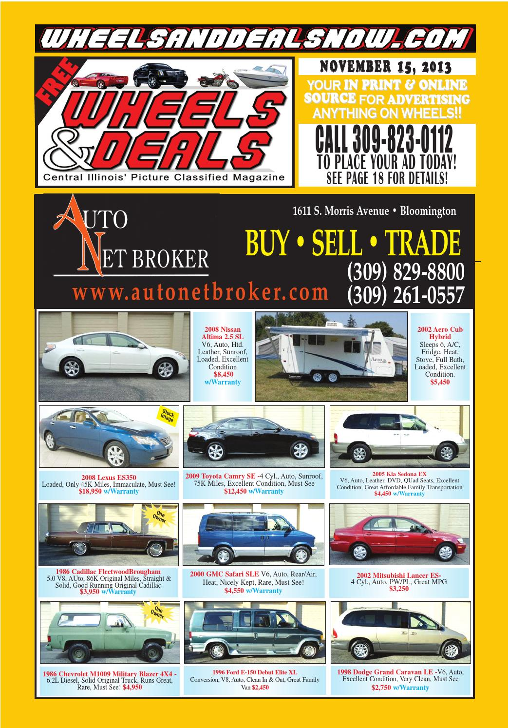 November 15, 2013 by Wheels and Deals - issuu