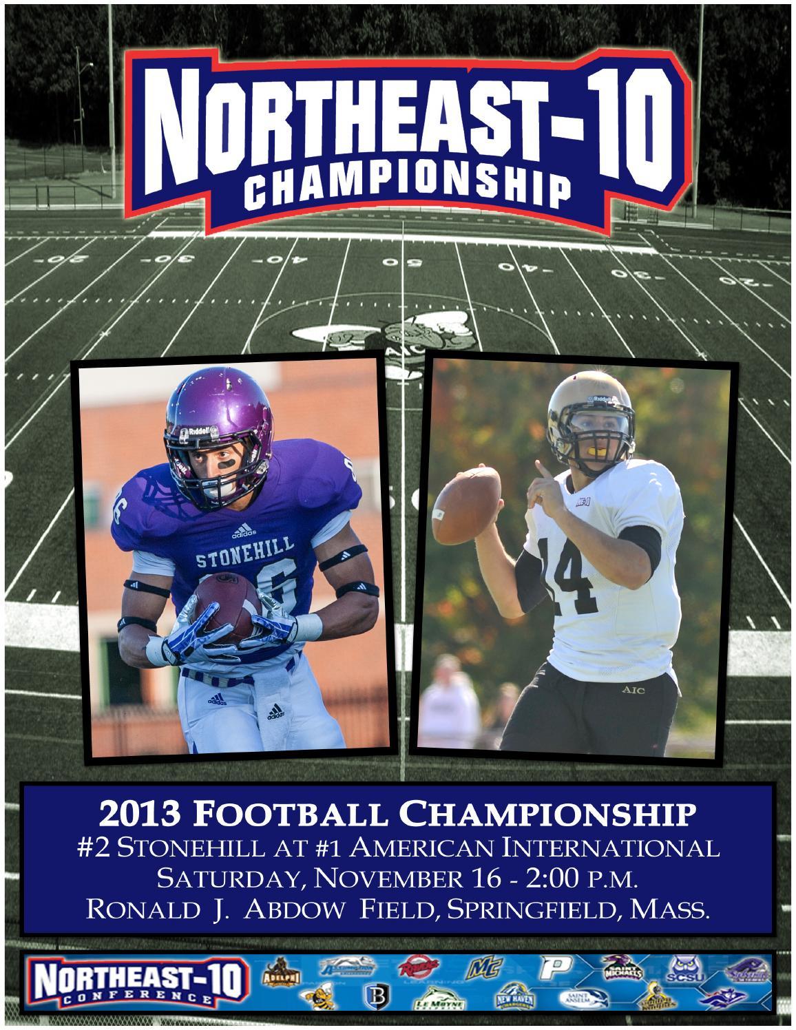 2013 Northeast-10 Football Championship by NE10 - issuu