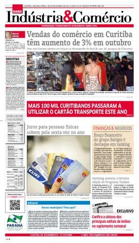446177997 Curitiba, segunda-feira, 18 DE novembro de 2013   Ano XXXViI   Edição nº  8998   R$ 2,50
